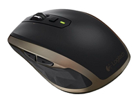 Logitech MX Anywhere 2 5+1 Wireless a RF + Bluetooth Laser 1600DPI Mano destra Nero, Bronzo mouse