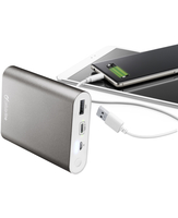 Cellularline FREEPOWER ULTRA 10000 - USB-C Caricabatterie portatile con USB Type-C Silver