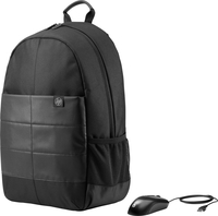 HP 15.6 Classic Backpack & Mouse Nylon Nero zaino
