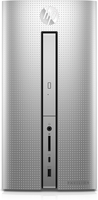 HP Pavilion 570-p065ng 3GHz i5-7400 Mini Tower Argento PC