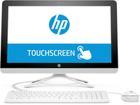 "HP 22 -b206d 2.40GHz i3-7100U 21.5"" 1920 x 1080Pixel Touch screen Bianco PC All-in-one"