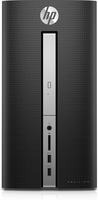 HP Pavilion 570-p066ng 3GHz i5-7400 Scrivania Nero, Argento PC