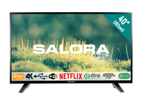 "Salora 40EUS2000 40"" 4K Ultra HD Smart TV Wi-Fi Nero, Argento LED TV"