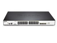 D-Link DGS-3120-24PC/ESI Gestito L2+ Gigabit Ethernet (10/100/1000) Supporto Power over Ethernet (PoE) Nero switch di rete