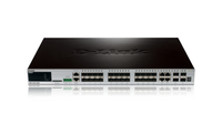 D-Link DGS-3420-28SC/E Gestito L2 Gigabit Ethernet (10/100/1000) Supporto Power over Ethernet (PoE) 1U Nero switch di rete