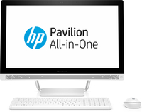 "HP Pavilion 24-b200ng 2.4GHz i5-7400T 23.8"" 1920 x 1080Pixel Touch screen Bianco PC All-in-one"