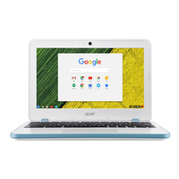 "Acer Chromebook CB311-7HT-C7EK 1.6GHz N3060 11.6"" 1366 x 768Pixel Touch screen Blu, Bianco Chromebook"