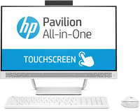 "HP Pavilion 24-a252d 2.4GHz i5-7400T 23.8"" 1920 x 1080Pixel Touch screen Bianco PC All-in-one"