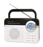 Brigmton BT-251 Portatile Digitale Nero, Bianco radio