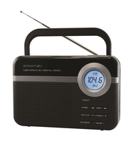 Brigmton BT-251 Portatile Digitale Nero radio
