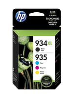 HP 934XL High Yield Black/935XL Cyan/Magenta/Yellow 4-pack 9.5ml 25.5ml 1000pagine 825pagine Nero, Ciano, Giallo cartuccia d