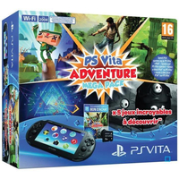 "Sony PS Vita Wi-Fi + Adventure Mega Pack + Carte mémoire 8 Go 5"" Touch screen Wi-Fi Nero console da gioco portatile"