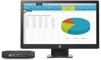 HP EliteDesk 800 35W G2 Mini + ProDisplay P203 + IWC f/Desktop Mini & Thin Client 2.5GHz i5-6500T Scrivania Nero PC