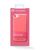 Cellularline Foggy - iPhone 5S/5 Morbida, colorata, semitrasparente - Rosa