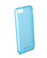 Cellularline Foggy - iPhone 5S/5 Morbida, colorata, semitrasparente - Blu
