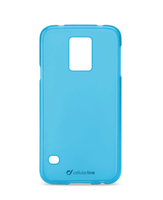 Cellularline Foggy - Galaxy S5 G900 Morbida, colorata, semitrasparente - Blu