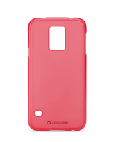 Cellularline Foggy - Galaxy S5 G900 Morbida, colorata, semitrasparente - Rosa