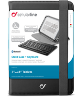 Cellularline Stand Case + Keyboard For Tablets Produttivit? al massimo Nero