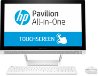 "HP Pavilion 24-b230cn 3.4GHz i3-7100T 23.8"" 1920 x 1080Pixel Touch screen Bianco PC All-in-one"