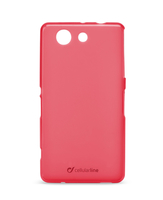 Cellularline Foggy - Xperia Z3 Compact Morbida, colorata, semitrasparente - Rosa