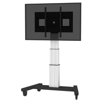 "Conen Mounts SCETAV3535 100"" Portable flat panel floor stand Alluminio, Nero base da pavimento per tv a schermo piatto"