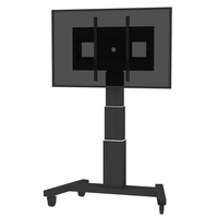 "Conen Mounts SCETAV3535B 100"" Portable flat panel floor stand Nero base da pavimento per tv a schermo piatto"