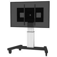 "Conen Mounts SCETAV28 100"" Portable flat panel floor stand Alluminio, Nero base da pavimento per tv a schermo piatto"