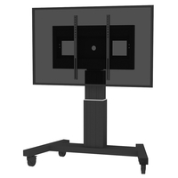 "Conen Mounts SCETAV28B 100"" Portable flat panel floor stand Nero base da pavimento per tv a schermo piatto"