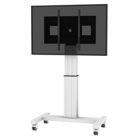 "Conen Mounts SCETA 100"" Portable flat panel floor stand Alluminio, Nero base da pavimento per tv a schermo piatto"