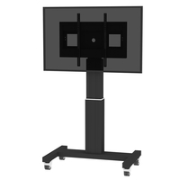 "Conen Mounts SCETAB 100"" Portable flat panel floor stand Alluminio, Nero base da pavimento per tv a schermo piatto"