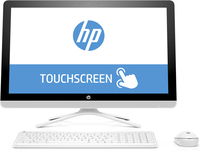 "HP 24 -g015la 2.2GHz A8-7410 23.8"" 1920 x 1080Pixel Touch screen Bianco PC All-in-one"