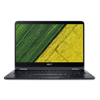 "Acer Spin 7 SP714-51 1.30GHz i7-7Y75 14"" 1920 x 1080Pixel Touch screen Nero Computer portatile"