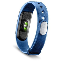 Cellularline Easy Fit HR Wristband activity tracker Senza fili IP54 Nero, Blu