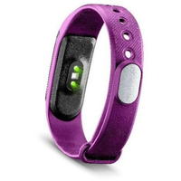 Cellularline Easy Fit HR Wristband activity tracker Senza fili IP54 Nero, Viola