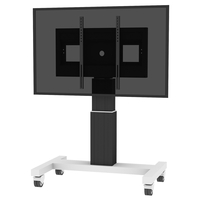 "Conen Mounts SCETA28B 100"" Portable flat panel floor stand Alluminio, Nero base da pavimento per tv a schermo piatto"