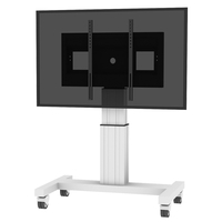 "Conen Mounts SCETA28 100"" Portable flat panel floor stand Alluminio, Nero base da pavimento per tv a schermo piatto"