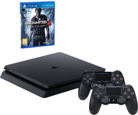 Sony PS4 (1TB) + Uncharted 4 + 2 controller DualShock 4 v2 1000GB Wi-Fi Nero