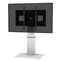 "Conen Mounts SCETAP28 100"" Fixed flat panel floor stand Alluminio, Nero base da pavimento per tv a schermo piatto"