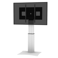 "Conen Mounts SCETAPL 100"" Fixed flat panel floor stand Alluminio, Nero base da pavimento per tv a schermo piatto"
