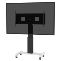 "Conen Mounts SCEXLB 120"" Portable flat panel floor stand Alluminio, Nero base da pavimento per tv a schermo piatto"
