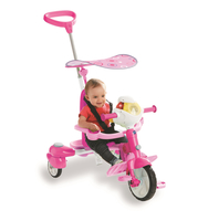 VTech Super Tricycle Interactif 4 en 1 rose triciclo