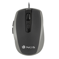 NGS Tick Silver USB Ottico 1600DPI Mano destra Argento mouse
