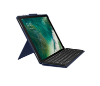 Logitech Slim Combo Smart Connector QWERTZ Svizzere Blu tastiera per dispositivo mobile