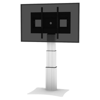 "Conen Mounts SCETAP3535 100"" Fixed flat panel floor stand Alluminio, Nero base da pavimento per tv a schermo piatto"