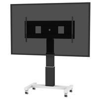 "Conen Mounts SCEXL3535B 120"" Portable flat panel floor stand Alluminio, Nero base da pavimento per tv a schermo piatto"