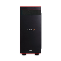 iiyama LEVEL-R027-LCi7K-VNA 4.2GHz i7-7700K Torre media Nero, Rosso PC