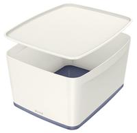 Leitz MyBox Storage tray Rectangular Acrylonitrile butadiene styrene (ABS) Grey, White