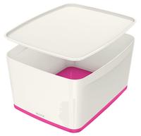 Leitz MyBox Storage tray Rectangular Acrylonitrile butadiene styrene (ABS) Pink, White