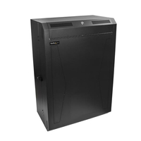 """StarTech.com 8U 19"""" Vertical Wall Mount Server Rack Cabinet - Low Profile (15"""") - 30"""" Deep Locking Network Enclosure w/2U for Switch Patch Panel Router Mounting IT/Data Cabinet Assembled"""