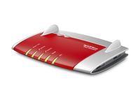 AVM FRITZ!Box 7390, DE Dual-band (2.4 GHz/5 GHz) Gigabit Ethernet 3G Rosso, Argento router wireless